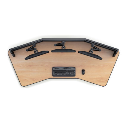 06-top-view-slatwall-mounted-multiple-monitor-workstation-desks