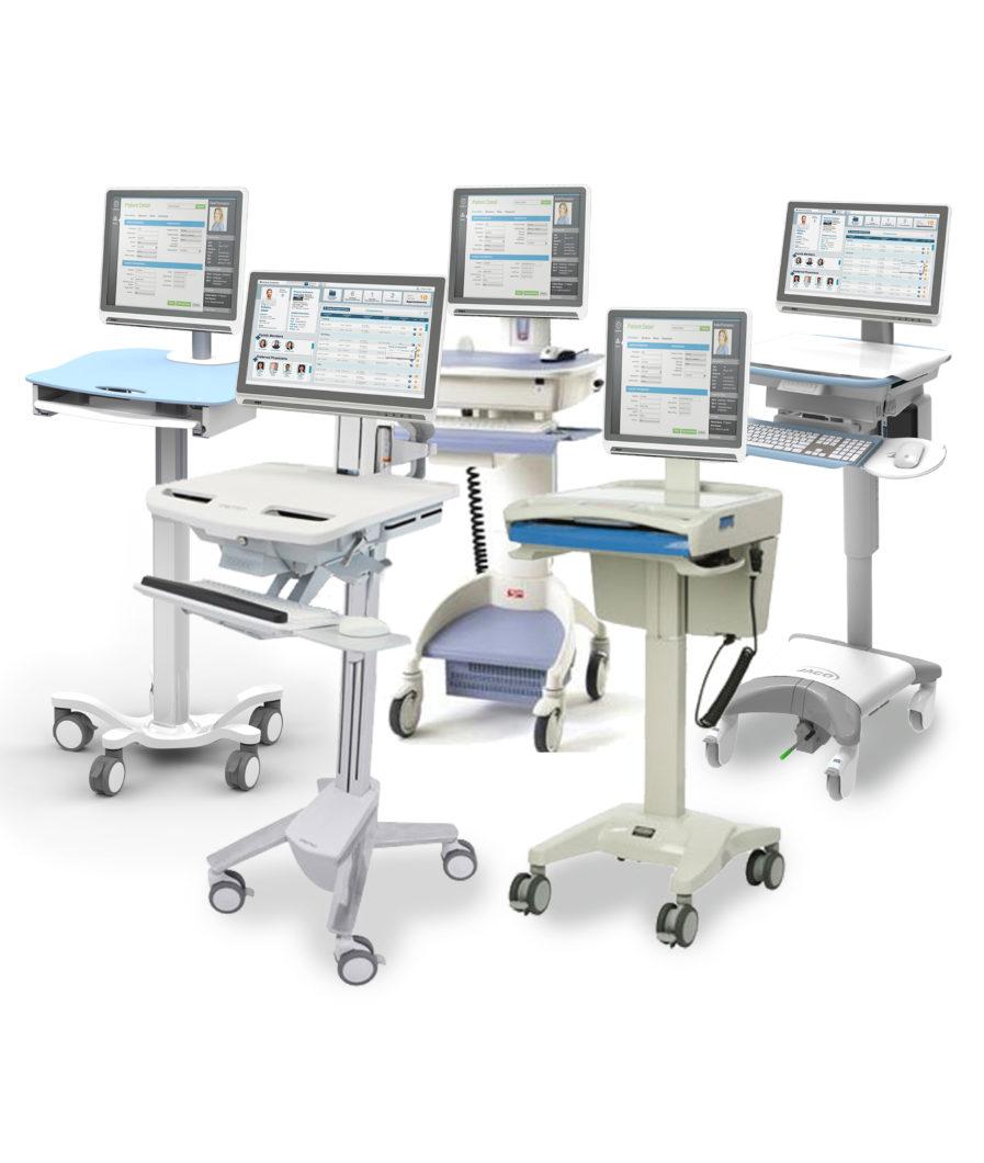 Onyx Healthcare 22″ Venus Mobile Nursing Workstation for ...